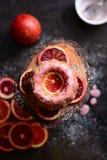Pan di Spagna dell'arancia sanguinella Fotografie Stock Libere da Diritti