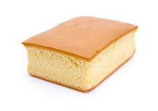 Pan di Spagna di vista laterale su bianco immagini stock