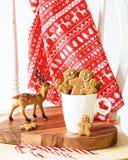 Pan di zenzero al Natale Fotografie Stock Libere da Diritti