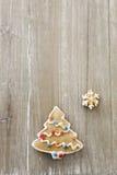 Pan di zenzero dell'albero di Natale Immagine Stock Libera da Diritti