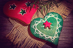 Pan di zenzero di Natale Fotografia Stock Libera da Diritti