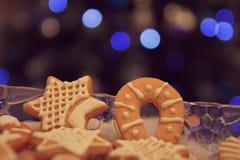 Pan di zenzero di Natale Fotografia Stock