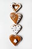 Pan di zenzero di Natale in forma di cuore Fotografie Stock Libere da Diritti