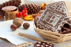 Pan di zenzero e dolci Immagini Stock