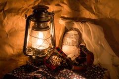 Pan di zenzero e lampada Fotografia Stock Libera da Diritti