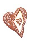 Pan di zenzero a forma di del cuore Immagini Stock Libere da Diritti