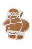 Pan di zenzero Santa Claus di Natale isolata su un fondo bianco Fotografie Stock Libere da Diritti