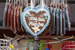 Pan di zenzero su Oktoberfest fotografia stock