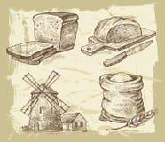 Pan dibujado mano Fotos de archivo