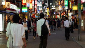 Pan Down of Busy Shibuya Shopping District Daytime - Tokyo Japan
