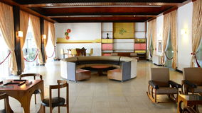 Pan Down - Presidents Game Room - Independence Palace - Ho Chi Minh City stock footage