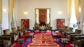 Pan Down - Presidents Reception Salon - Independence Palace - Ho Chi Minh City stock video