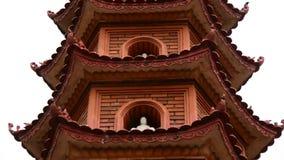 Pan Down / Tran Quoc Pagoda Temple in Hanoi Vietnam. Tran Quoc Pagoda in Hanoi Vietnam stock video