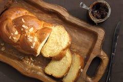 Pan dulce del bollo de leche Foto de archivo