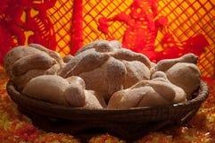 Pan dulce llamado (Pan de Muerto) Imagen de archivo