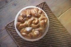 Pan dulce, torta fotos de archivo