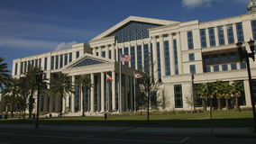 Pan of Duval County Courthouse in Jacksonville, Florida stock video
