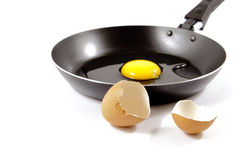 Pan and egg without frying Royalty Free Stock Photography