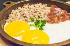 Pan Eggs Royalty Free Stock Image