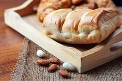 Pan en de madera Fotografía de archivo