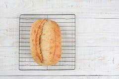 Pan en el estante de enfriamiento Fotos de archivo