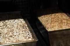 Pan en estufa del pan Fotos de archivo libres de regalías