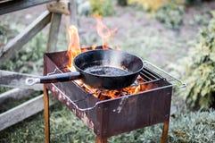 Pan en grill Stock Afbeeldingen