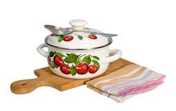 Pan en keukengerei Stock Foto's