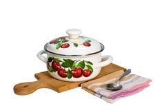 Pan en keukengerei Stock Afbeeldingen
