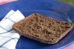 Pan en la placa azul imagen de archivo