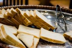Pan en la placa de acero inoxidable Fotografía de archivo