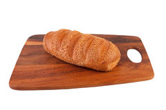 Pan en la tarjeta de corte Imágenes de archivo libres de regalías
