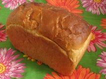 Pan en servilleta florecida Foto de archivo libre de regalías