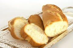 Pan en una bandeja 1 imagen de archivo
