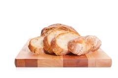 Pan en una tarjeta de corte Imágenes de archivo libres de regalías