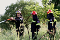:Pan-European exercise of the Fire Brigade Royalty Free Stock Photo