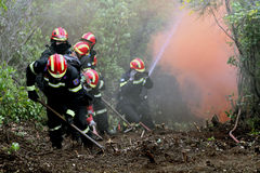 :Pan-European exercise of the Fire Brigade Stock Image