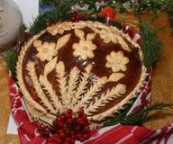 Pan festivo hecho a mano ucraniano 2 del día de fiesta de la panadería Imagenes de archivo