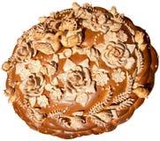 Pan festivo ucraniano aislado 8 del día de fiesta de la panadería Imagen de archivo libre de regalías