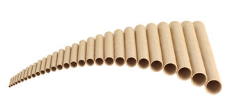Pan flute Royalty Free Stock Photos