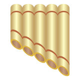 Pan flute Royalty Free Stock Image