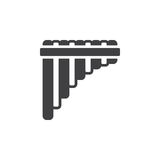 Pan flute icon vector, filled flat sign, solid pictogram isolated on white. Stock Photo