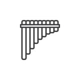 Pan flute line icon, outline vector sign, linear style pictogram isolated on white Royalty Free Stock Images