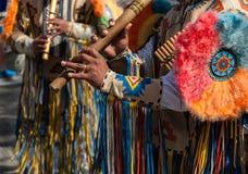 Pan Flute Musicians Royaltyfria Bilder
