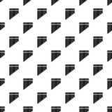 Pan flute pattern, simple style Royalty Free Stock Photos