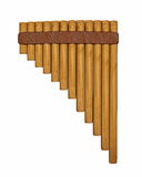 Pan flute or pipe - 3D render Stock Photo