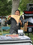 Musician at Edmonton Heritage Day, Canada Stock Image