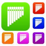 Pan flute set collection Stock Images