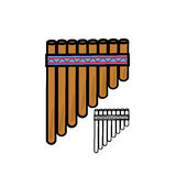 Pan flute Royalty Free Stock Photo