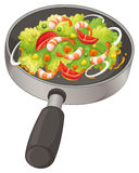 A pan with a food Stock Photo